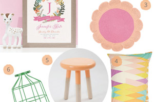 Floral Brights Nursery Ideas