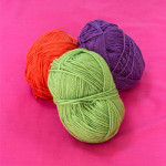 Gather your chosen colours of wool