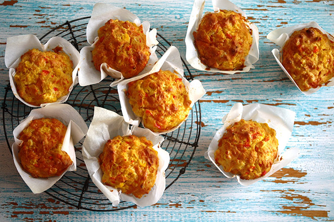 Recipe Easy Lunchbox Cheesy Muffins