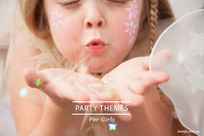 Birthday party ideas for girls. Fairy, rainbow, pamper and lots more parties!