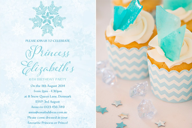 Snow Queen birthday party for girls