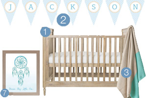 Soft Blue and Tan Nursery Inspiration for a baby boy