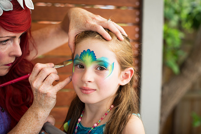 Mermaid Party Face Painting by Jenny Saunders from Pixie Faces