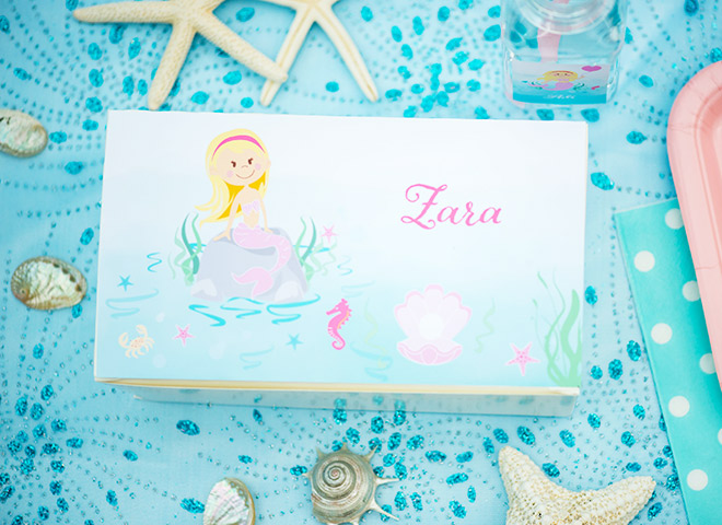 Personalised Mermaid Party Lunchbox from Love JK