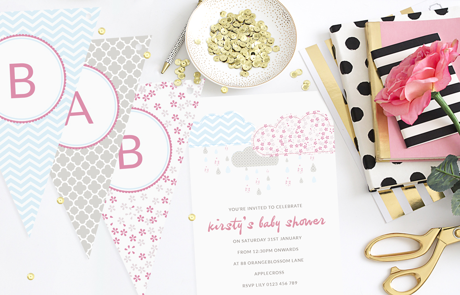 Its Baby Shower Invitations & Bunting