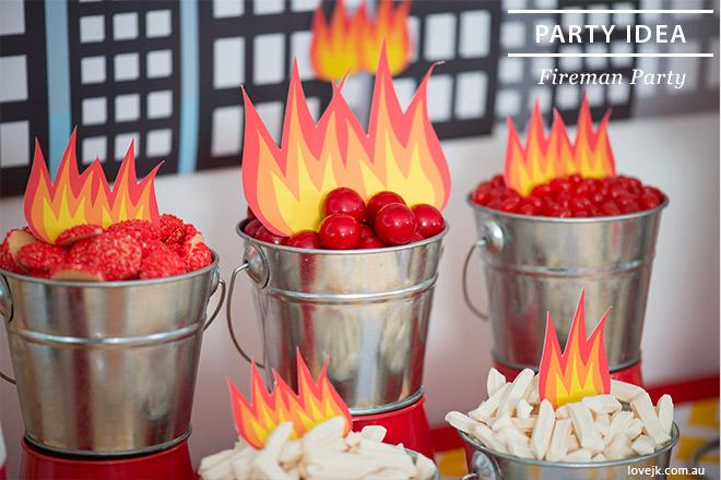 Fireman Party Ideas via Love JK