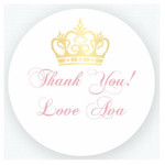 Princess Party Thank You Stickers$0.49 each
