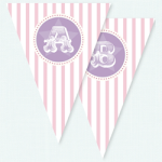 Pink Circus Party Bunting Flags$1.99 per flag