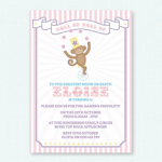Pink Circus Party Invitation$1.49 each