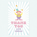 Pink Circus Party Thank You Tag$0.99 each