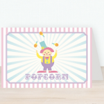 Pink Circus Party Tent Cards$1.15 each