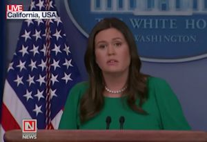 White House Press Sec. Sarah Huckabee Sanders Speaks