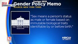 Trump Administration Gives Definition of Gender