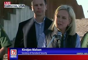 US Security of Homeland Security Tours Mexico Border Walls