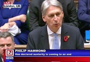 British Finance Minister Philip Hammond declared Austerity Is Coming To An End in Britain