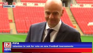FIFA President Asks for Votes for New Tournaments