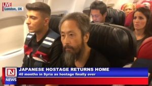 Japanese Hostage Returns Home