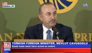 Turkish Foreign Minister Speaks on The Killing of Khashoggi