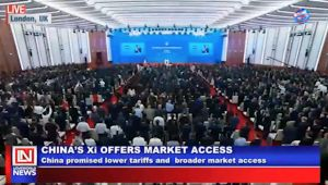 China's President Offers Market Access