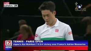 Tennis: Japanese Kei Excels in Paris Open