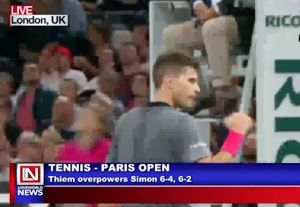 Thiem Begins a Good Start in Paris Open