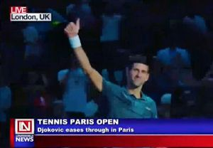 Djokovic Eases Through in Paris