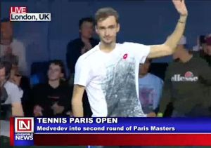 Medvedev Wins Carreno in The Paris Open
