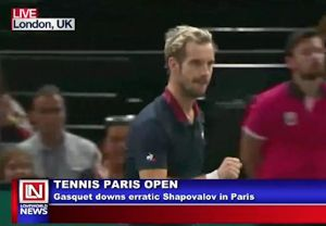 Gasquet Downs Erratic Shapovalov in Paris