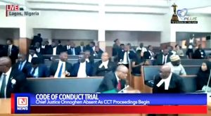 Code of Conduct Trial: CJN Absent as Proceedings Begin