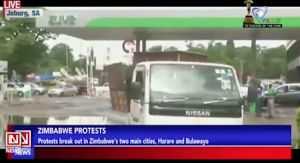 Protest Over Fuel Hike in Zimbabwe