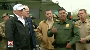 President Trump Visits Border Patrol Team to Assess Border