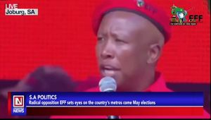 EFF Party Set to Run SA Metros After Elections