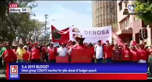 Protests Ahead of S.A 2019 Budget Speech