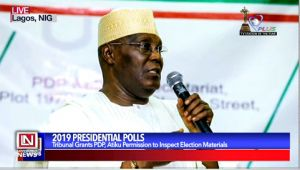 Tribunal Grant's Atiku Permission to Inspect 2019 Presidential Election Materials