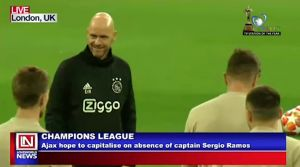 Ajax Hopes to Capitalize on the Absence of Sergio Ramos to Spring a Comeback