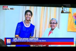 Nigerian-American Teen Campaigns for Girl Child Education in Africa