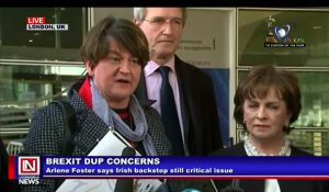 Irish Leader, Foster, Calls Backstop the Critical Issue