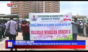 Workers' Day: Nigerian President Assures Workers of Full Implementation of New Minimum Wage
