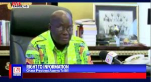 Ghana's President Signs into Law the Right to Information Act