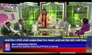 Pastor Chris Hosts May Global Communion Service in South Africa