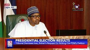 Tribunal Dismisses INEC, Buhari's Appeal to Strike out PDM's Petition