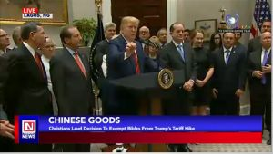 Christian Leaders Hail President Trump for Removing Bibles from List of Chinese Goods Tariff Hike