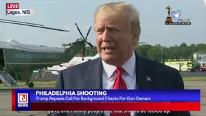 President Trump Insists on Call for Background Checks for Gun Ownership