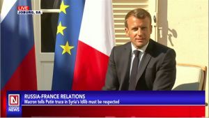 President Macron Hosts Counterpart from Russia, Vladimir Putin