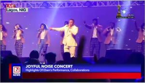 Gospel Artiste Eben Blesses Audience with New Songs  at Joyful Noise Concert