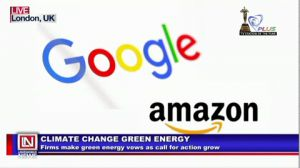 Amazon and Google Commits to Spending Big on Green Energy Plans