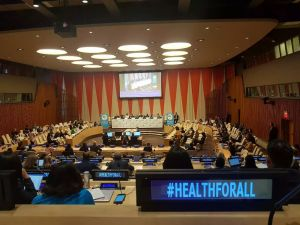 TCIF Speaks on Universal Health Coverage at UN General Assembly