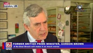 Former Prime Minister Gordon Brown Appeals to MPs Against Leaving the EU Without A Deal