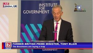 Former British Prime Minister, Tony Blair Warns Labor of Elephant Trap