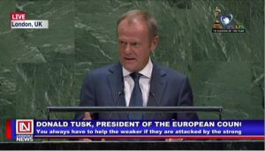 EU President Gives Final Address at UN General Assembly